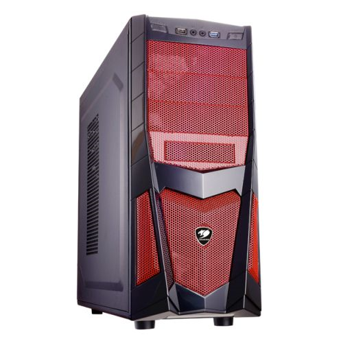Cougar Volant 2 Gaming Case with Red Mesh, ATX, up to 8 Fans, Black/Red